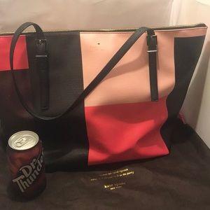 Kate Spade Large Pink/Black Handbag